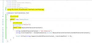 Microsoft Visual Studio - Checkliste zwingende Bestandteile Unittest C#