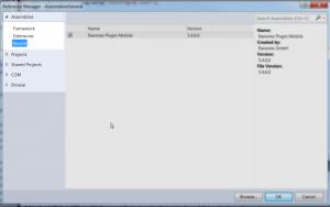 Reference Manager - Microsoft Visual Studio
