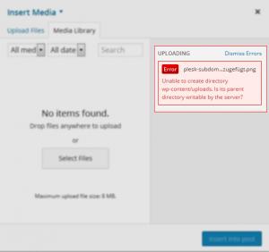 WordPress-unable-create-directory-error-message