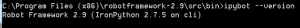 ironpython-robot-framework-version